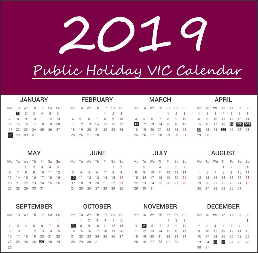 VIC Public Holidays 2019